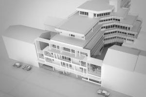 Fassadensanierung eines Gebäudes der öffentlichen Hand